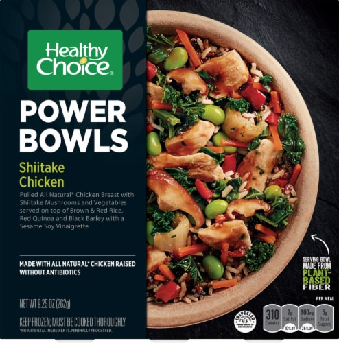 Healthy Choice Power Bowls Shiitake Chicken Frozen Meal Perspective: front