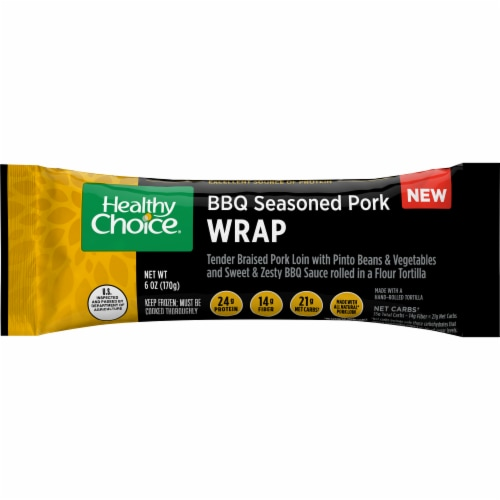Healthy Choice BBQ Seasoned Pork Wrap Perspective: front