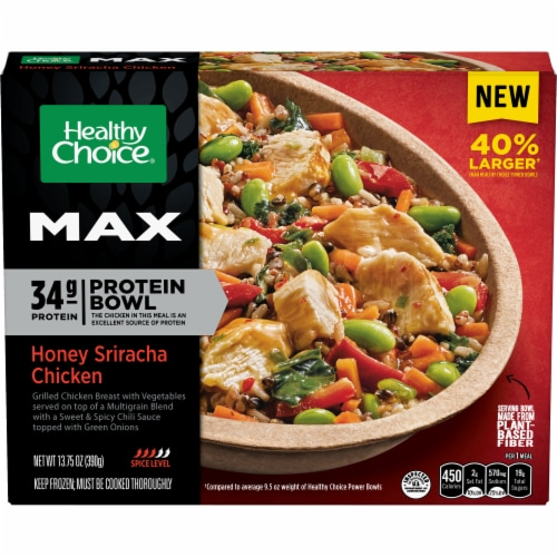 Healthy Choice Max Honey Sriracha Chicken Frozen Protein Bowl Perspective: front