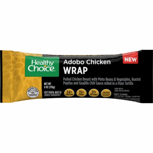 Healthy Choice Adobo Chicken Wrap Perspective: front