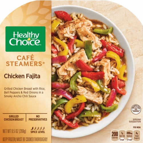 Healthy Choice Cafe Steamers Chicken Fajita Frozen Meal Perspective: front