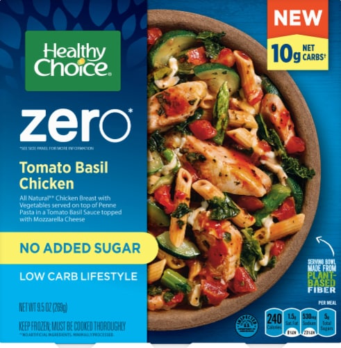 Healthy Choice Zero Tomato Basil Chicken Low Carb Frozen Meal Perspective: front