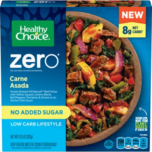 Healthy Choice Zero Carne Asada Low Carb Frozen Meal Perspective: front