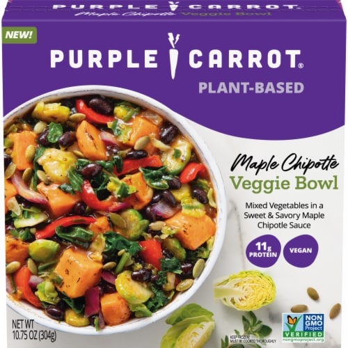 Purple Carrot Maple Chipotle Veggie Bowl Vegan Frozen Meal Perspective: front