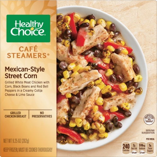 Healthy Choice Cafe Steamers Mexican-Style Street Corn Frozen Meal Perspective: front