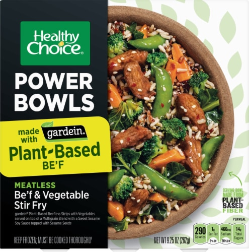 Healthy Choice Gardein Be'f & Vegetable Plant-Based Stir Fry Power Bowl Perspective: front
