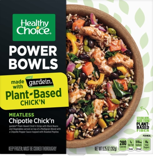 Healthy Choice Gardein Plant-Based Chipotle Chick'n Power Bowl Perspective: front