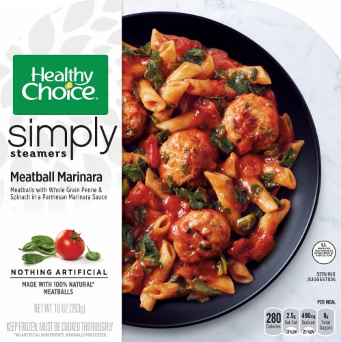 Healthy Choice Simply Steamers Meatball Marinara Frozen Meal Perspective: front