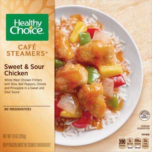 Healthy Choice Cafe Steamers Sweet & Sour Chicken Perspective: front