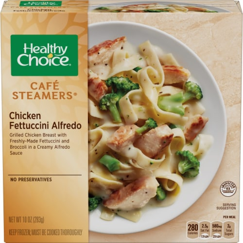 Healthy Choice Cafe Steamers Chicken Fettuccini Alfredo Frozen Meal Perspective: front