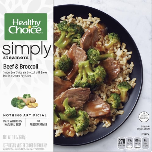 Healthy Choice Simply Steamers Beef & Broccoli Meal Perspective: front