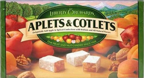 Liberty Orchards Aplets & Cotlets Perspective: front