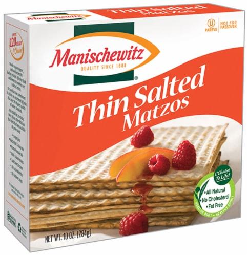 Manischewitz Thin Salted Matzos Perspective: front