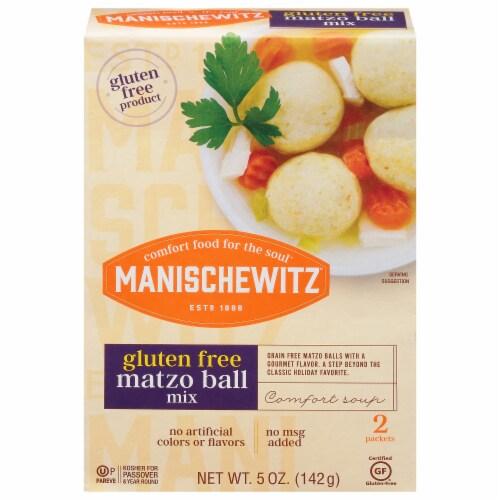 Manischewitz Gluten Free Matzo Ball Mix Packets Perspective: front