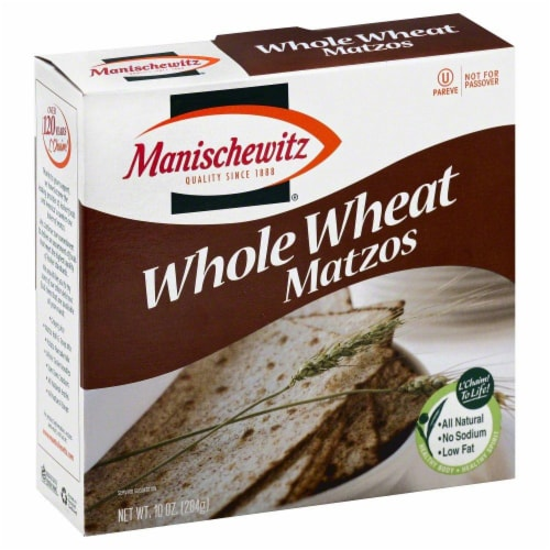 Manischewitz Whole Wheat Matzos Perspective: front