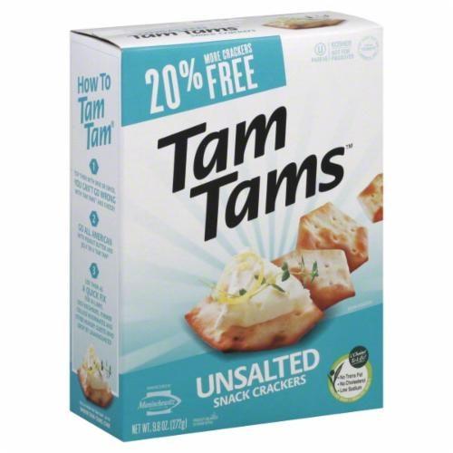 Manischewitz Tam Tams Unsalted Snack Crackers Perspective: front