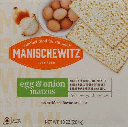 Manischewitz Egg & Onion Matzos Perspective: front