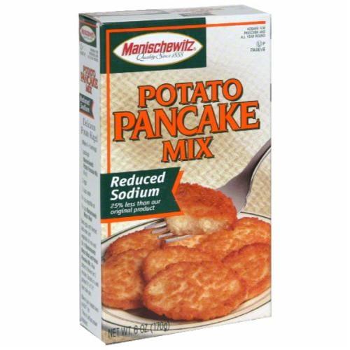 Manischewitz Potato Pancake Mix Reduced Sodium Perspective: front