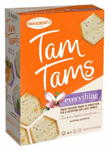 Manischewitz Tam Tams Everything Snack Crackers Perspective: front