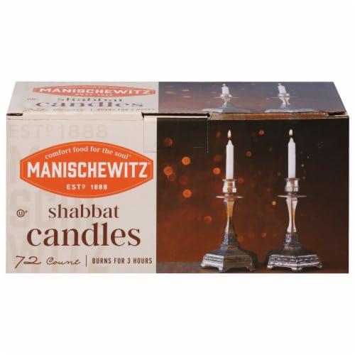 Manischewitz Shabbat Candles Perspective: front