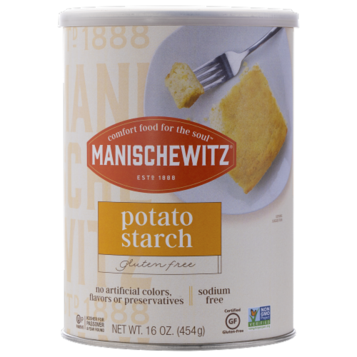 Manischewitz Potato Starch Canister Perspective: front