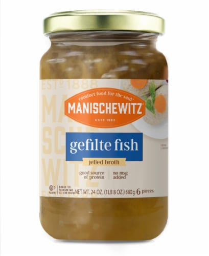 Manischewitz Gefilte Fish in Jelled Broth Perspective: front