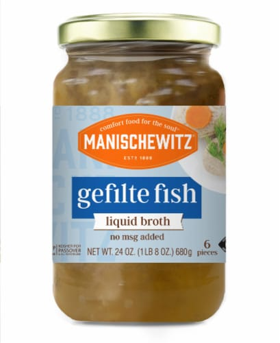 Manischewitz Gefilte Fish in Liquid Broth Perspective: front