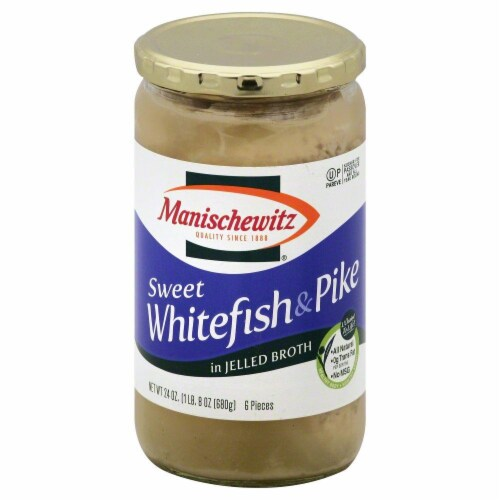 Manischewitz Sweet Whitefish & Pike in Jellied Broth Perspective: front