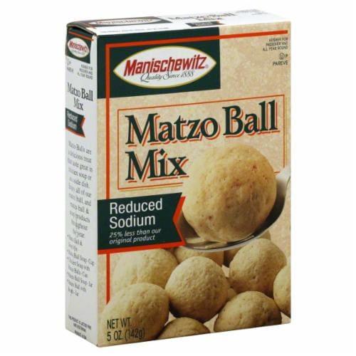 Manischewitz® Reduced Sodium Matzo Ball Mix Perspective: front