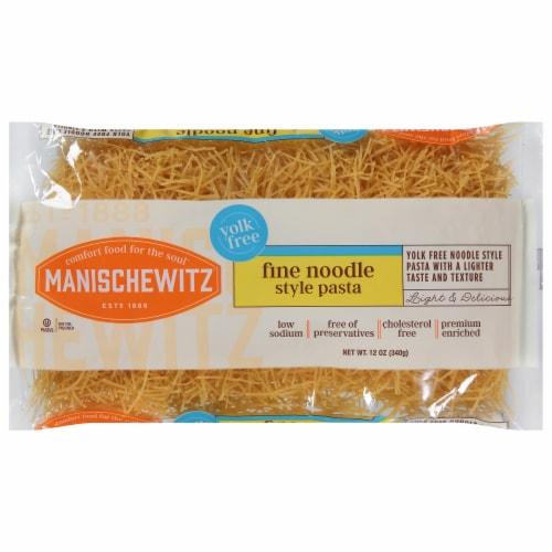 Manischewitz Yolk Free Fine Noodles Perspective: front