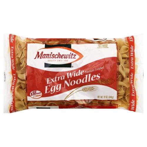 Manischewitz Extra Wide Egg Noodles Perspective: front