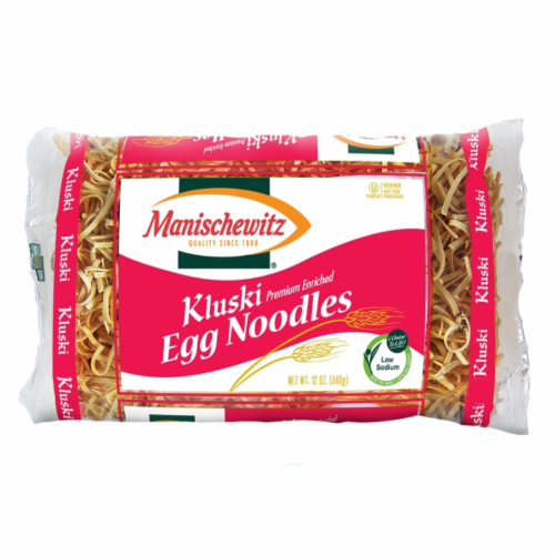Manischewitz Kluski Egg Noodles Perspective: front