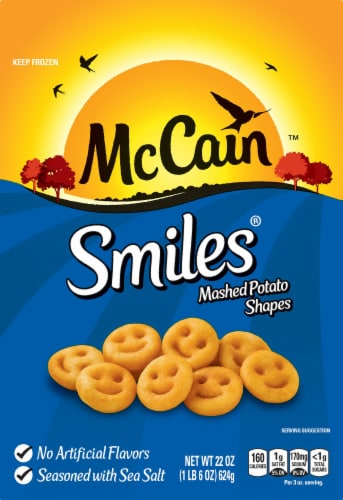 McCain Smiles Mashed Potato Shapes Perspective: front