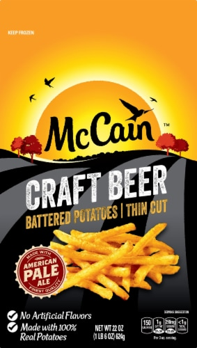 McCain Craft Beer Battered Thin Cut Potatoes Perspective: front