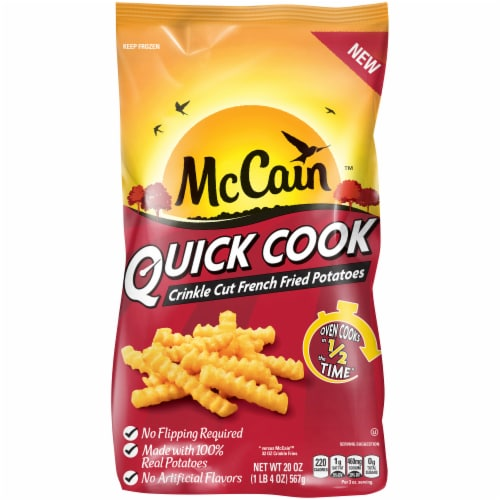 McCain Quick Cook Crinkle Cut French Fried Potatoes Perspective: front
