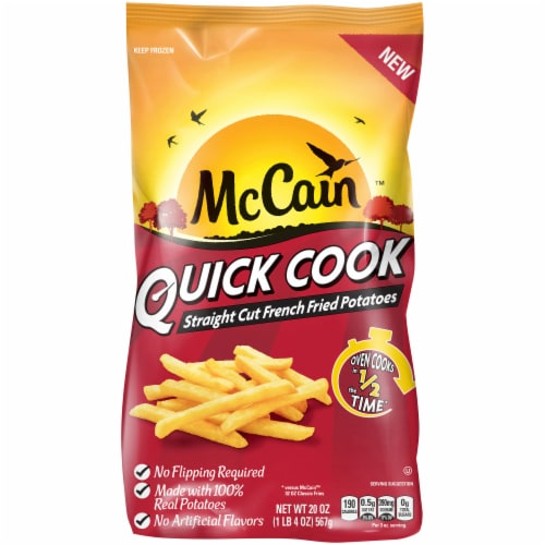 McCain Quick Cook Battered Straight Cut French Fried Potatoes Perspective: front