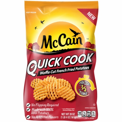 McCain Quick Cook Waffle Cut French Fried Potatoes Perspective: front