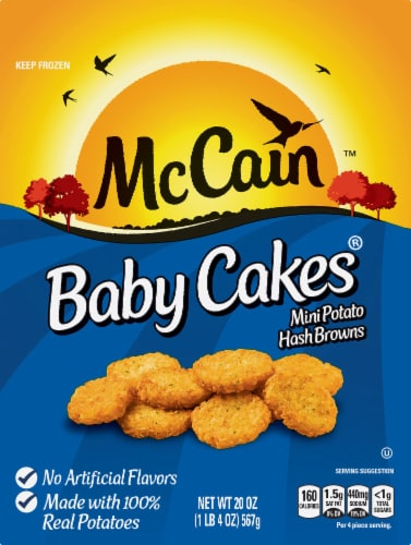 McCain Baby Cakes Mini Potato Hash Browns Perspective: front