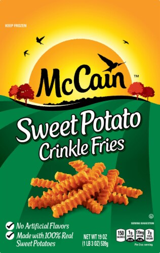 McCain Sweet Potato Crinkle Fries Perspective: front