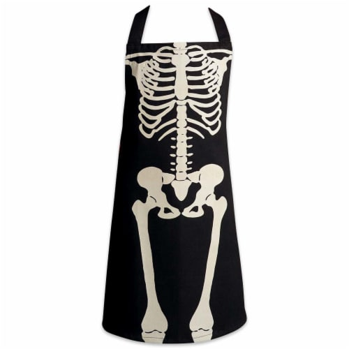 DII Skeleton Print Chef Apron Perspective: front