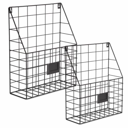 Design Imports Farmhouse File Basket, Bronze - Set of 2 Perspective: front