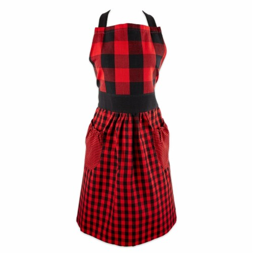 DII Red/Black Gingham Apron Perspective: front