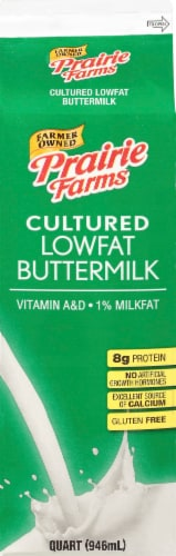 Prairie Farms Low Fat Buttermilk Perspective: front