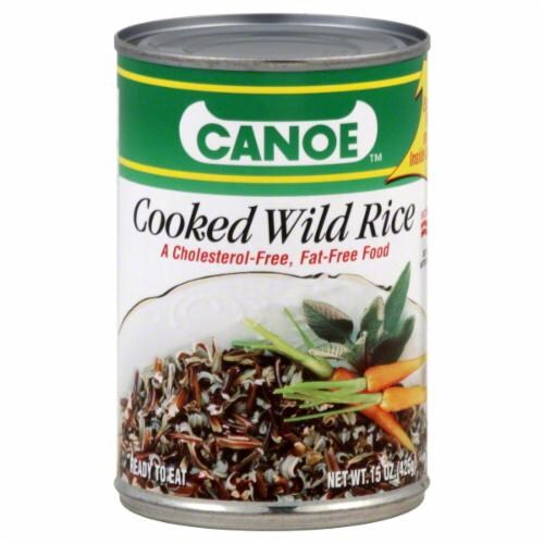 Canoe Cooked Wild Rice Perspective: front