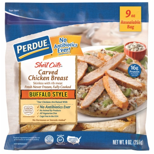 Perdue Short Cuts Buffalo Style Carved Chicken Breast Perspective: front