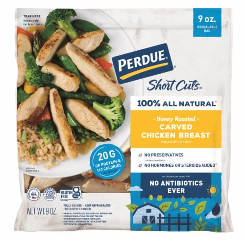 Perdue Short Cuts Honey Roasted Carved Chicken Breasts Perspective: front