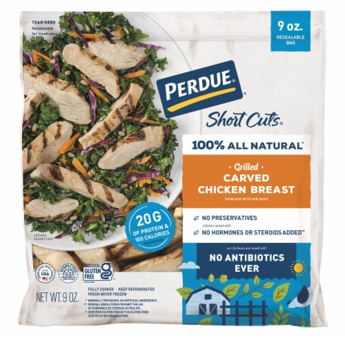 Perdue® Short Cuts® Grilled Carved Chicken Breast Perspective: front