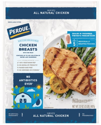 Perdue Individually Wrapped Boneless Skinless Chicken Breasts Perspective: front