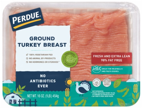 Perdue Extra Lean Fresh Ground Turkey Breast Perspective: front