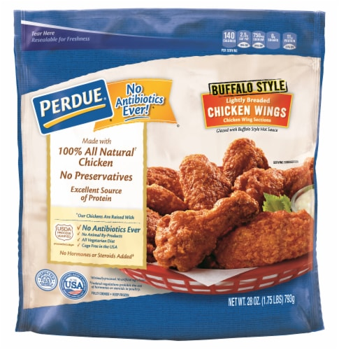 Perdue Buffalo Style Lightly Breaded Chicken Wings Perspective: front